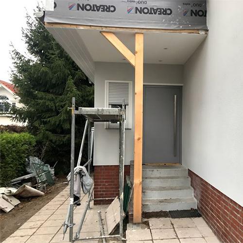 neue Haustüre silber Fenster Krokos Berlin